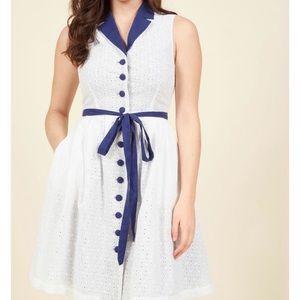 White shirt dress button down - ModCloth